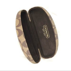 COACH sunglasses case monogram covered